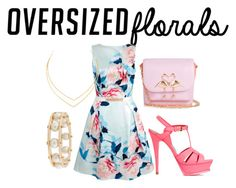 """""""Contest: Oversized Florals"""" by marquisey ❤ liked on Polyvore featuring Yumi, Sophia Webster, Yves Saint Laurent, Lana and Lele Sadoughi"""