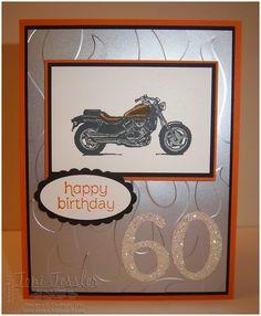 Toni Tessler (tonistamps) Independent Stampin Up Demonstrator. Harley-Davidson-ish birthday card