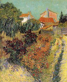 The Athenaeum - Garden Behind a House (Vincent van Gogh - )