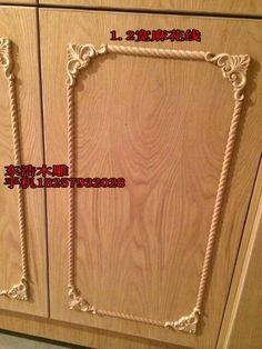Pantry doors, raised panel, antiqued, wooden appliques, antique ...