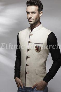 Cream Linen Princely Jacket