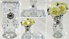 Glam Room, Crystal Vase, Dollar Tree, Glass Vase, Checking Account, Room Decor, Diy Crafts, Crystals, Elegant