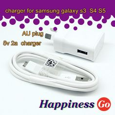Find More Chargers & Docks Information about 20 pcs/lot  5.0V/2A 100% Original AU Plug Wall USB Charger&usb cable For Samsung Galaxy S4 S3,High Quality s3 mobile,China cable sheaves Suppliers, Cheap s3 mp4 from Happiness go on Aliexpress.com
