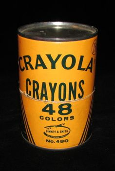 There was something so pleasing about crayolas in the round tin.