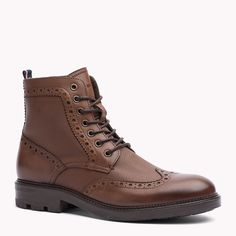 Tommy Hilfiger Leather Boot - brandy - Tommy Hilfiger Boots - detail image 0