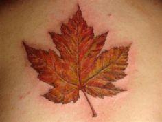 Canadian Leaf Tattoo - 20+ Leaf Tattoos <3 <3