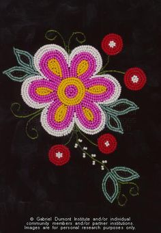 The Virtual Museum of Métis History and Culture Native Beading Patterns, Beadwork Designs, Bead Embroidery Patterns, Native Beadwork, Native American Beadwork, Bead Loom Patterns, Beaded Jewelry Patterns, Beaded Embroidery, Bracelet Patterns