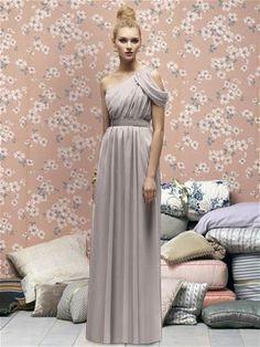 Lela Rose Bridesmaids Style LX160 Fabric: Crinkle Chiffon : Wild Berry, Taupe, or Grey