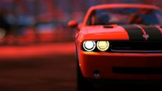 video games cars vehicles Gran Turismo 5 Dodge Challenger SRT8 PS3 Red Bull's Hangar wallpaper background