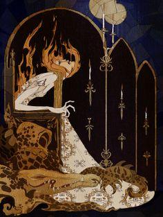 """The Illustrations of Kate Baylay.- Graduada con honores de la Universidad del Oeste de Inglaterra, Kate Baylay crea piezas oscuras y engañosamente decorativas, se inspira en el trabajo de los ilustradores de """"La Edad de Oro"""". Sus ilustraciones de cuentos de hadas, relatos cortos y novelas son clásicas y al mismo tiempo contemporáneas. (Via http://jaredleto.com/thisiswhoireallyam/2013/07/30/the-illustrations-of-kate-baylay/ ..."""