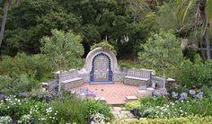 The gardens of Casa del Herrero - House of the Blacksmith - by architect George Washington Smith. Montecito, CA. 1925.