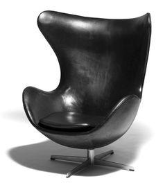 The Egg Chair designed by Arne Jacobsen in 1958 for the SAS hotel in Copenhagen.