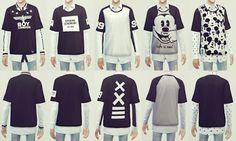 My Sims 4 Blog: Shirts for Teen - Elder Males by Ooobsooo