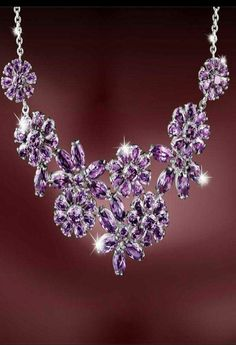 Vintage purple necklace