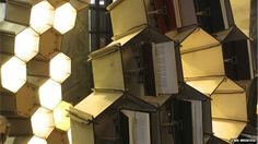 BBC News: Honeycomb book hive celebrates library's 400th anniversary
