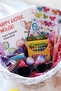 Easter Basket Ideas for toddlers without lots of candy. www.lifewithgraceblog.com #Easter #EasterBasket
