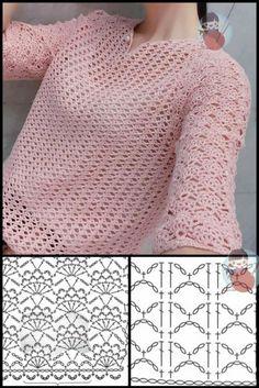 Crochet Shaw, Gilet Crochet, Crochet Cord, Crochet Cardigan Pattern, Crochet Jacket, Crochet Stitches Patterns, Crochet Designs, Crochet Magazine, Crochet Clothes
