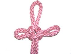 The Hanger Knot is a Chinese Macrame technique that is used for decoration, or to hang something with. There are two variations; one with a single loop at the top, and one with three loops.