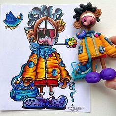 Cartoon Drawings, Art Drawings, Doodle Art Drawing, Drawing Tips, Planner Doodles, Graffiti Doodles, Doodle Characters, Panda Wallpapers, Doodle Art Designs