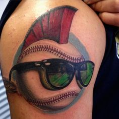 50 Sporty Baseball Tattoo Designs – For The Love Of The Game Girl Leg Tattoos, Tattoos On Side Ribs, Weird Tattoos, Girly Tattoos, Badass Tattoos, Small Tattoos, Tattoos For Guys, Sleeve Tattoos, Tattoo Sleeves