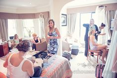 Morning preparation at Italian Villa wedding photographs.Photography by one thousand words wedding photographers