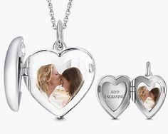 SOUFEEL Heart Engravable Photo Locket with Chain - SOUFEEL