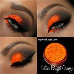 MYO Lidschattenpigment Ultra Bright Orange Mica Loose Powder Kosmetik Make-up That's bright. Single Eyeshadow Pigments – MYO Eyeshadow Pigment Ultra Bright Orange Mica Loose Powder Cosmetic Makeup (Powered by CubeCart) - Schönheit von Make-up Pigment Eyeshadow, Makeup Eyeshadow, Makeup Cosmetics, Eyeliner, Makeup Geek, Bright Eyeshadow, Eyeshadow Palette, Orange Eyeshadow Looks, Gray Eyeshadow