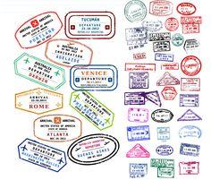 Passport Stamps - free vector graphics