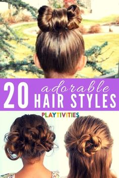 20 Adorable Long Hair Hairstyles For Girls - Playtivities Hair Style Girl hair style for girls images Super Cute Hairstyles, Flower Girl Hairstyles, Easy Hairstyles For Long Hair, Little Girl Hairstyles, Ponytail Hairstyles, Trendy Hairstyles, Hairstyles Haircuts, Hairdos, Toddler Hairstyles