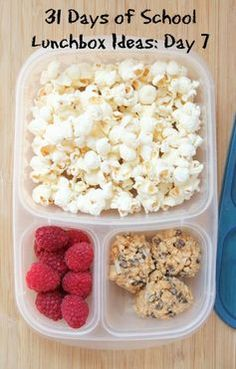 31 Days of School Lunchbox Ideas: Day 7 - 365 Day Healthy Food For Teens Lunch Snacks, Healthy Snacks, Healthy Recipes, Kid Snacks, Protein Snacks, Whats For Lunch, Lunch To Go, Toddler Meals, Kids Meals
