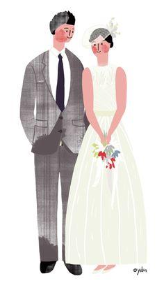 Wedding illust Wedding Illustration, Family Illustration, Character Illustration, Illustration Art, Wedding Art, Illustrations And Posters, Graphic, Wedding Portraits, Wedding Designs