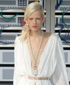 Despite establishing itself as the biggest jewelry trend since the ear cuff, the reign of the choker appears to be coming to an end, giving way on the Spring/Summer 2017 catwalks to the statement necklaces spotted at Prada, Loewe, Givenchy and more.