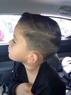 Boy hair cut (side view for those who have been asking) =)