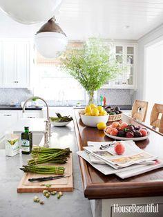 Wood kitchen counter. Design: Peter Dunham. #kitchen #kitchen_counter