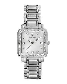 Bulova Women's Stainless Steel Diamond Watch