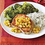Sauteed Pork Chops with Pineapple and Mint Recipe | MyRecipes.com