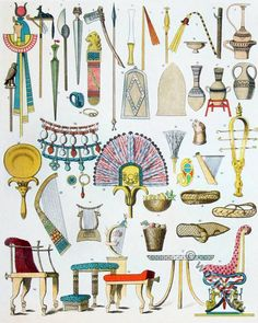 ancient adornments | Ancient Adornments and weapons of the Egyptians