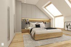 Z folklorem w tle - Średnia sypialnia małżeńska na poddaszu, styl skandynawski - zdjęcie od WERDHOME