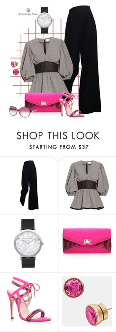 """""""Untitled #1462"""" by aly53-1 ❤ liked on Polyvore featuring The Row, Isa Arfen, Elwood, MICHAEL Michael Kors, Salvatore Ferragamo, watches, contestentry and christianpaul"""