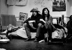 """Sam Shepard and Patti Smith in the premiere performance of their play """"Cowboy Mouth."""" Credit Gerard Malanga"""