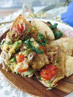 Pork and Pinto Bean Nachos / The Editorialite / Healthy Nachos / Light Nacho Recipe / Super Bowl Appetizers / Healthy Super Bowl Appetizers / Super Bowl Recipes