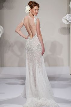 Backless Wedding Gown by Pnina Tornai | Lulu's Event Design