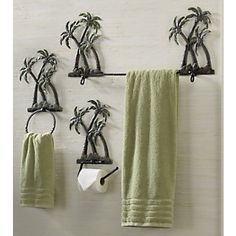 Palm Tree Bath Set Ginnys