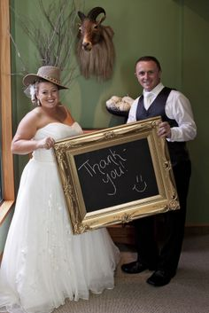 This a the thank you picture we took on the day of the wedding