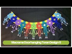 How to make macrame toran (Design -5) | macrame door hanging | Macrame Art - YouTube
