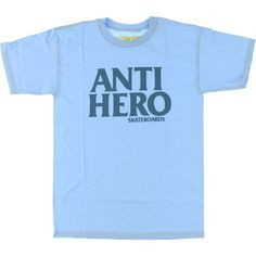 894f9973c59 New Products Available from Anti Hero Skateboards Black Hero Powder Blue  Large T Shirt!