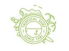 Tropical Surf Logo by Yoga Perdana