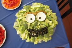 kids' party platter.  more oscar the grouch.