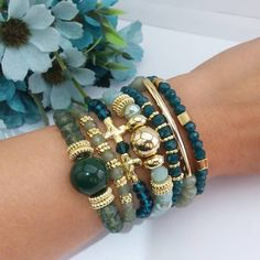 SPUNKYsoul Bohemian Multi-Colored Beaded Cuff Bracelets for Women Collection (Teal/Red/Cube) – Fine Jewelry & Collectibles Crystal Jewelry, Boho Jewelry, Jewelry Crafts, Beaded Jewelry, Silver Jewelry, Jewelry Design, Fashion Jewelry, Jewelry Accessories, Jewellery