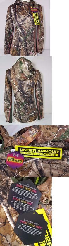 Hoodies and Sweatshirts 177871: Under Armour Evo Scent Camo Cg Infrared Fitted Hoodie Top Womens Sz S New -> BUY IT NOW ONLY: $49.99 on eBay!